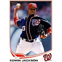 2013 Topps Baseball Card #233 Edwin Jackson - Washington Nationals - MLB Trading Cards
