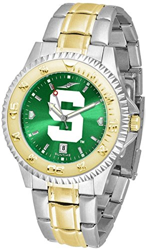 (Collegiate Anochrome Competitor Sports Watch with Two Tone Band (Michigan State))