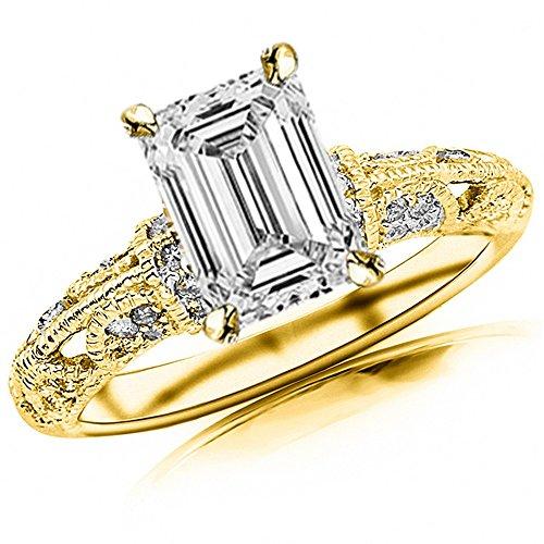 0.68 Ct Emerald Cut Diamond - 6