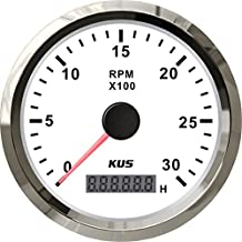 KUS Tachometer With Hour Meter 0-3000RPM For Diesel Engine 85MM 12V/24V