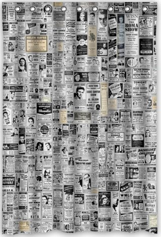 Amazon 48x72 Inches Newspaper Shower Curtain New Waterproof