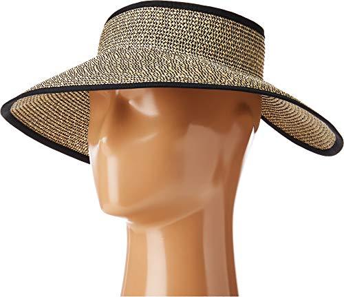San Diego Hat Company Women's Ultrabraid Visor with Ribbon Binding, and Sweatband, Multi/Black One ()