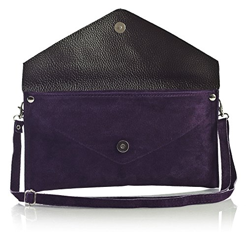 Big Handbag Shop, Borsetta da polso donna One, Light Purple (BG448), One