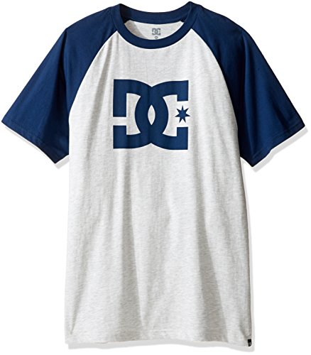 DC Shoes Men's Star Raglan SS T Shirt Light Heather/Varsity Blue (xsbb) M