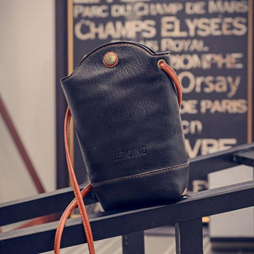 Bovake - Bolso mochila  de paño para mujer negro