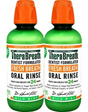 TheraBreath Dentist Recommended Fresh Breath Oral Rinse, 16 Ounce (Pack of 2)