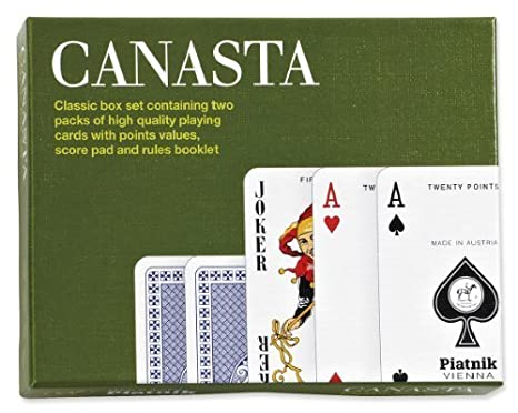 3 x 55-Piece Piatnik 2697 Samba Canasta Card Game
