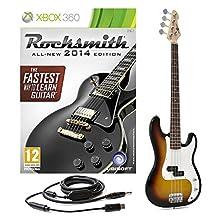 Rocksmith 2014 Xbox 360 + LA Bass Guitar by Gear4music Sunburst