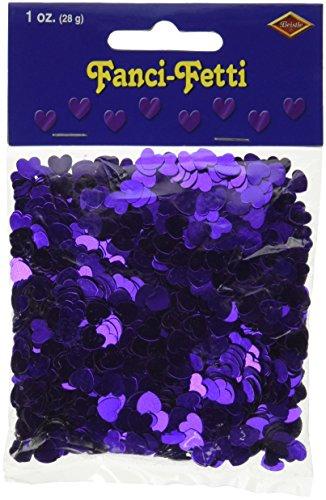 Fanci-Fetti Hearts (purple) Party Accessory  (1 count) (1 Oz/Pkg)