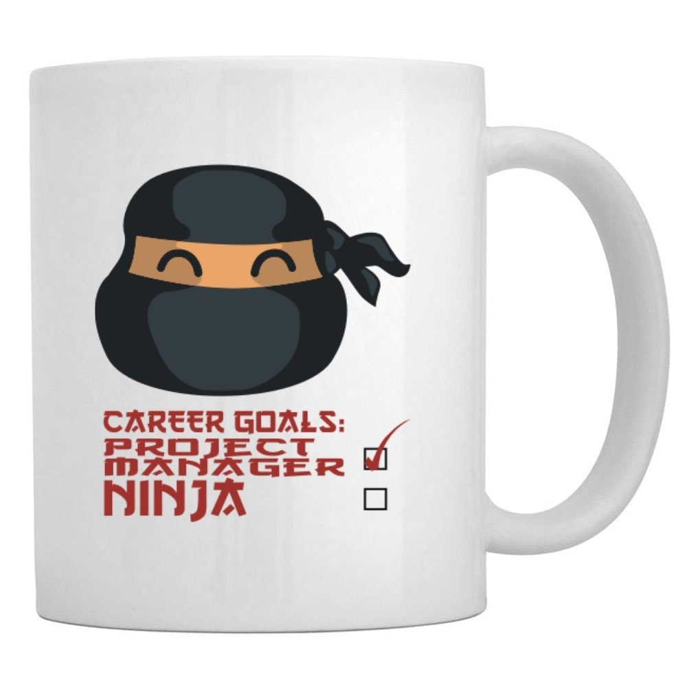 Amazon.com: Teeburon Career Goals Project Manager Ninja Mug ...