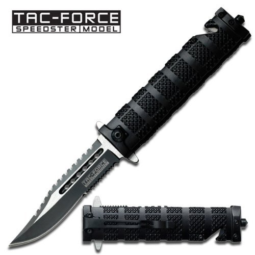 Tac Force TF-710BK Assisted Opening Folding Knife 5-Inch Closed, Outdoor Stuffs