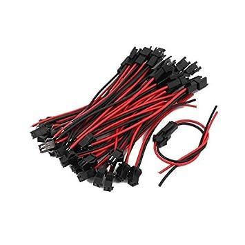 eDealMax 20 Pares 10 cm de Largo RC Modelo de Cable SM2P Macho a hembra Empalme