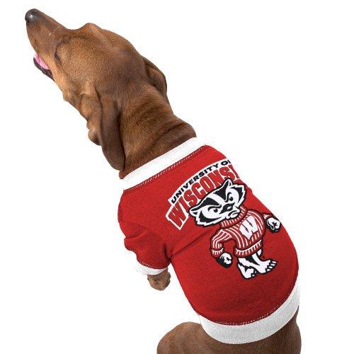 NCAA University of Wisconsin Pet T-Shirt, X-Small