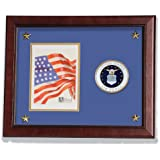Allied Frame United States Air Force Vertical Picture Frame with Medallion and Stars