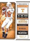 #7: 2018 Panini Contenders Draft Picks Season Ticket #80 Peyton Manning Tennessee Volunteers Football Card