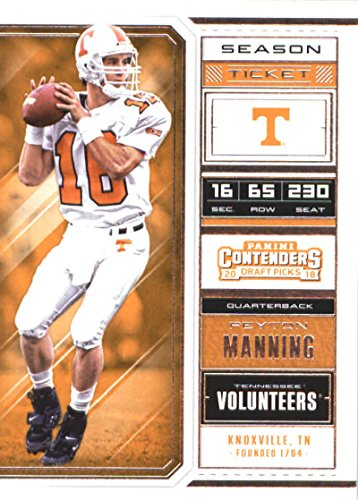 - 2018 Panini Contenders Draft Picks Season Ticket #80 Peyton Manning Tennessee Volunteers Football Card