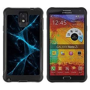 Suave TPU GEL Carcasa Funda Silicona Blando Estuche Caso de protección (para) Samsung Note 3 / CECELL Phone case / / Disco Laser Lights Fog Black /