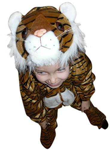 Three Person Halloween Costume Ideas (Fantasy World Tiger Halloween Costume f. Children/Boys/Girls, Size: 4t, F14)