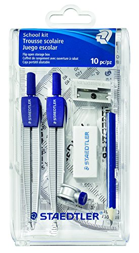 Staedtler Plastic Compass - Staedtler Math Set for Drawing Measuring Tool (550 60S3A6)