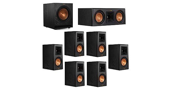Amazon Klipsch 71 System With 2 RP 500M Bookshelf Speakers 1 500C Center Speaker 4 Surround SPL 100