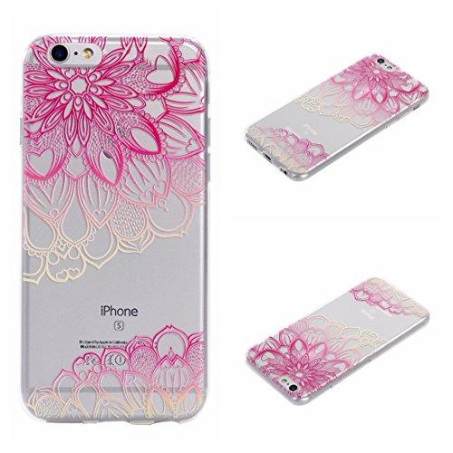 Voguecase® für Apple iPhone 6 Plus/6S Plus 5.5 hülle, Schutzhülle / Case / Cover / Hülle / TPU Gel Skin (Rosa Durchstochen) + Gratis Universal Eingabestift