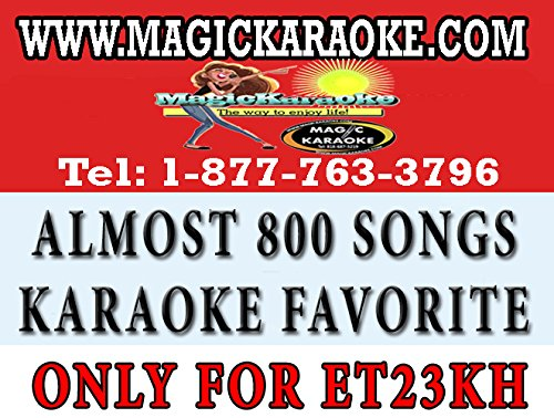 Magic Sing Et23kh POP Chips. A Collection of Almost 800 Songs of Karaoke Bar Most Requested Songs. Only Works with Magicsing Et23kh