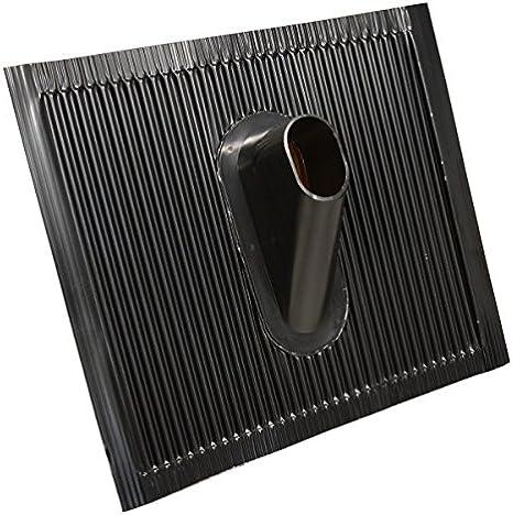 Premiumx Dachabdeckung Alu Dachziegel Schwarz Dach Montage Abdeckung Ziegel Dachpfanne Für Sat Mast Und Dachsparrenhalter