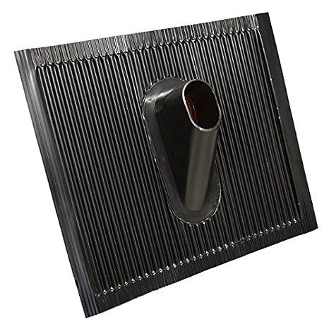 PremiumX Deluxe X90-48 Dachsparrenhalter 90 cm Mast SAT Sparren Dach-Halterung mit Kabeldurchf/ührung Dach-Abdeckung Frankfurter Dach-Ziegel Gummi-Manschette schwarz ALU-Mastkappe