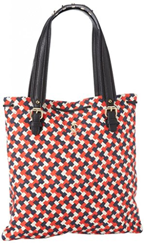 Juicy Couture Tote Handbag - Juicy Couture Drew Printed Canvas YHRU3482 Tote,Siren,One Size