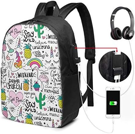 ビジネスリュック ユニコーン メンズバックパック 手提げ リュック バックパックリュック 通勤 出張 大容量 イヤホンポート USB充電ポート付き 防水 PC収納 通勤 出張 旅行 通学 男女兼用