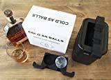 Image of COLD AS BALLS Premium Crystal Clear Ice Sphere System for the True Whiskey, Bourbon or Cocktail Enthusiast – BPA Free FDA Approved Silicone Ice Tray Molds – Perfect as Whiskey Gift Set