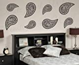 Paisley Wall Decal Mural - Stylish Graphic Trendy Fashion Vinyl Art Sticker Decor Decoration Large Sign