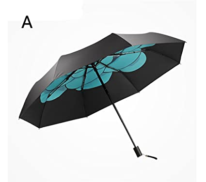 Paraguas plegable Paraguas de viaje plegable Ligero Compacto a prueba de viento Paraguas anti-UV