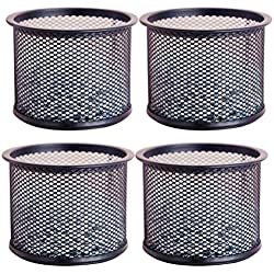 Vosarea 4 Pcs Mesh Desktop Organizer Iron Wire Storage Box Paper Clips Push Pins Holder Container Case
