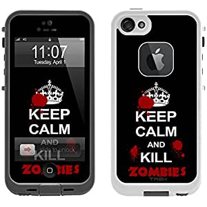 Skin Decal for LifeProof iPhone 5 Case - Keep Calm Kill Zombies Design