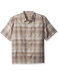 Men's Big and Tall Short Sleeve Microfiber Woven Shirt