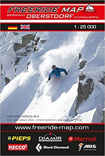 freeride map lech zurs warth massstab 1 25 000