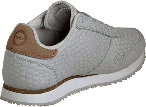 Woden Ydun Croco Womens Baskets 050 Light grey