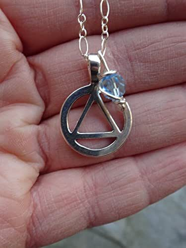 Amazon.com: AA Recovery Necklace. Sterling Silver Unity