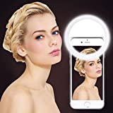 Selfie Ring Light, UINSTONE Selfie Light LED for iPhone Samsung Galaxy Sony and Other Smart Phones, 3-Level Brightness Pearl White LED Clip On for All Smartphones/Tablets, Great for Applying Make Up