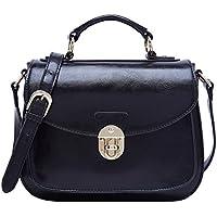 BOYATU Leather Satchel Handbags for Women Vintage Top Handles Messenger Bag