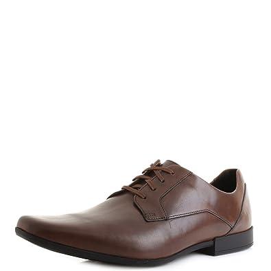 Details about CLARKS Glement Lace Mens Tan Lace up Shoe