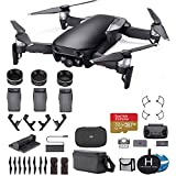 DJI Mavic Air Fly More Combo (Onyx Black) Ultimate Bundle - 3 Batteries, 32GB Extreme Card, Landing Pad, Landing Gear and More