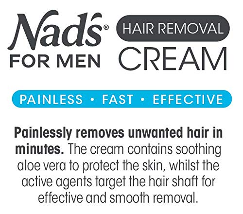 Nad's for Men Hair Removal Cream - Painless Hair Removal For Men - Soothing Depilatory Cream For Unwanted Coarse Male… 5