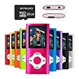 MYMAHDI MP3/MP4 Music Player with 16 GB Micro SD Card(Expandable up to 128GB),Supporting Photo Viewer,Voice Recorder,FM Radio,E-Book and Earphone Provided Color Pink