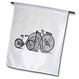 Florene Vintage - 3 Vintage Bikes - 12 x 18 inch Garden Flag (fl_37366_1)