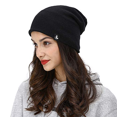 LETHMIK Slouchy Cuff Winter Beanie,Mens&Womens Watch Skull Cap Fleece Lined Knitted Hat ()