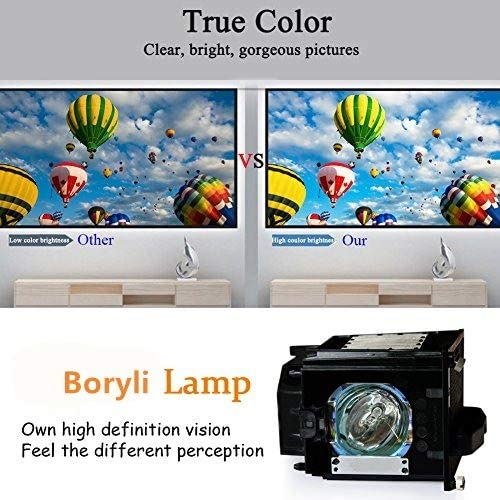 Boryli Compatible with Mitsubishi 915P049010 TV Replacement Lamp with Housing DLP TV Assembly Cage with Projector Bulb