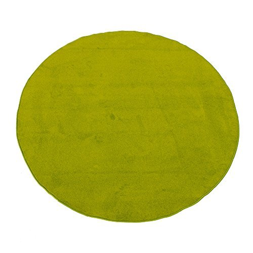 Learning Carpets Solid Green - Learning Carpets CPR465 - Solid Green Round by Learning Carpets