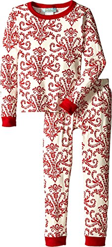 BedHead Kids Unisex Stretch L/S Kids PJ (Toddler/Little Kids) Candy Canes Pajama Set 3T (Candy Cane Pajamas)